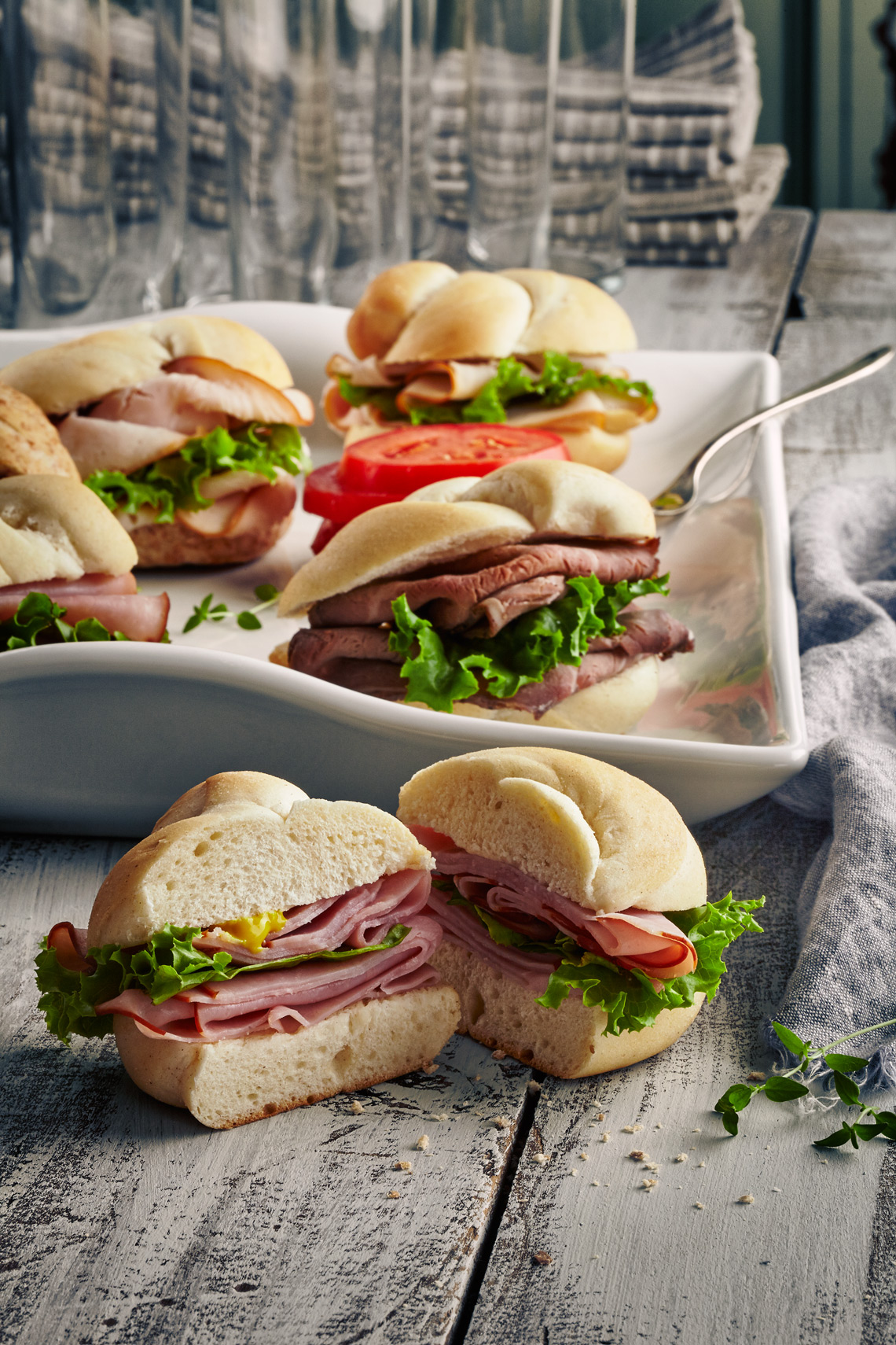 HAM-CHEESE-ROAST-BEEF-SANDWICHES
