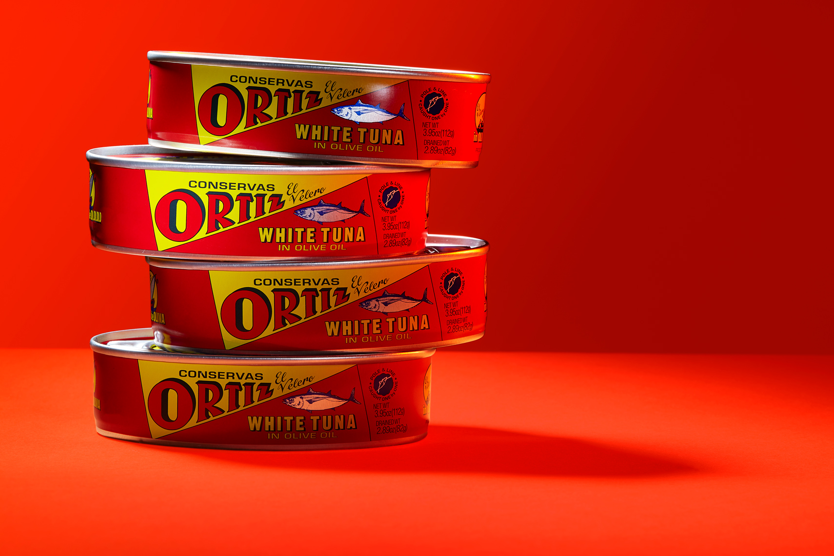 Ortiz-white-tuna-can-sardines-olive-oil-red-stack