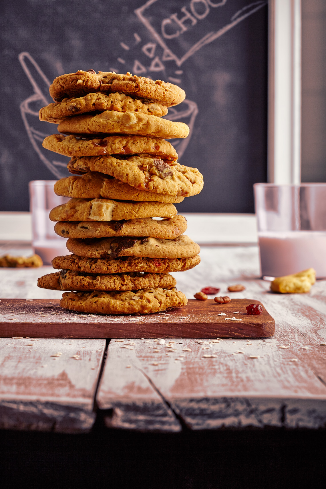 Pink-Chocolate-Chip-Cookie-Stack