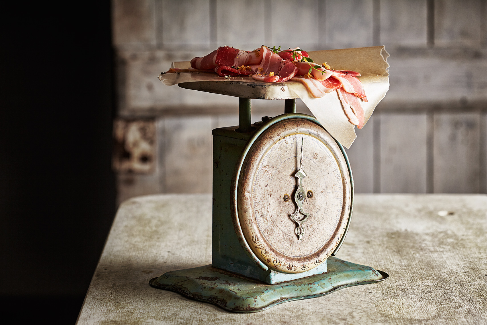 Raw Bacon Scale