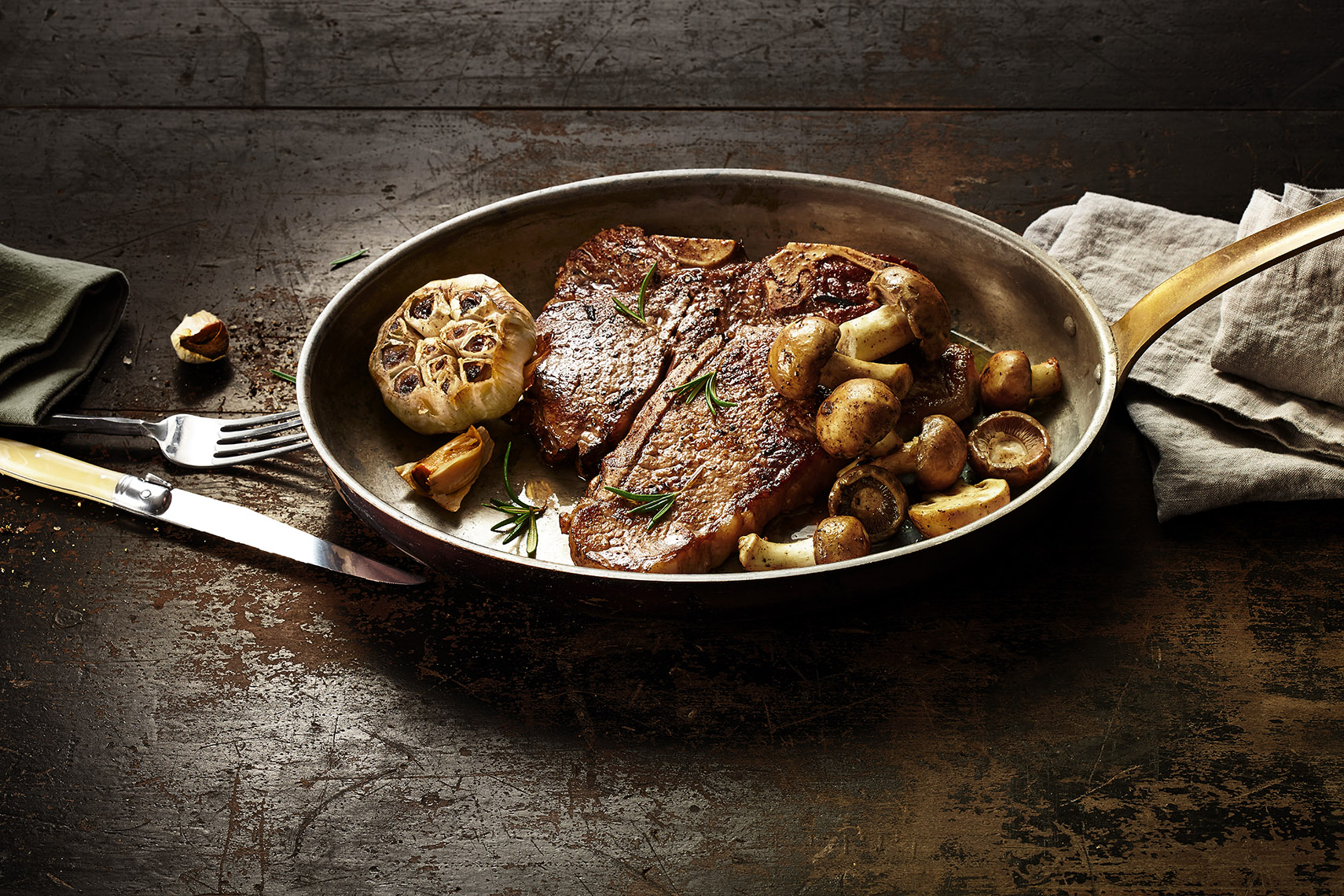 Steak-Garlic-Mushrooms