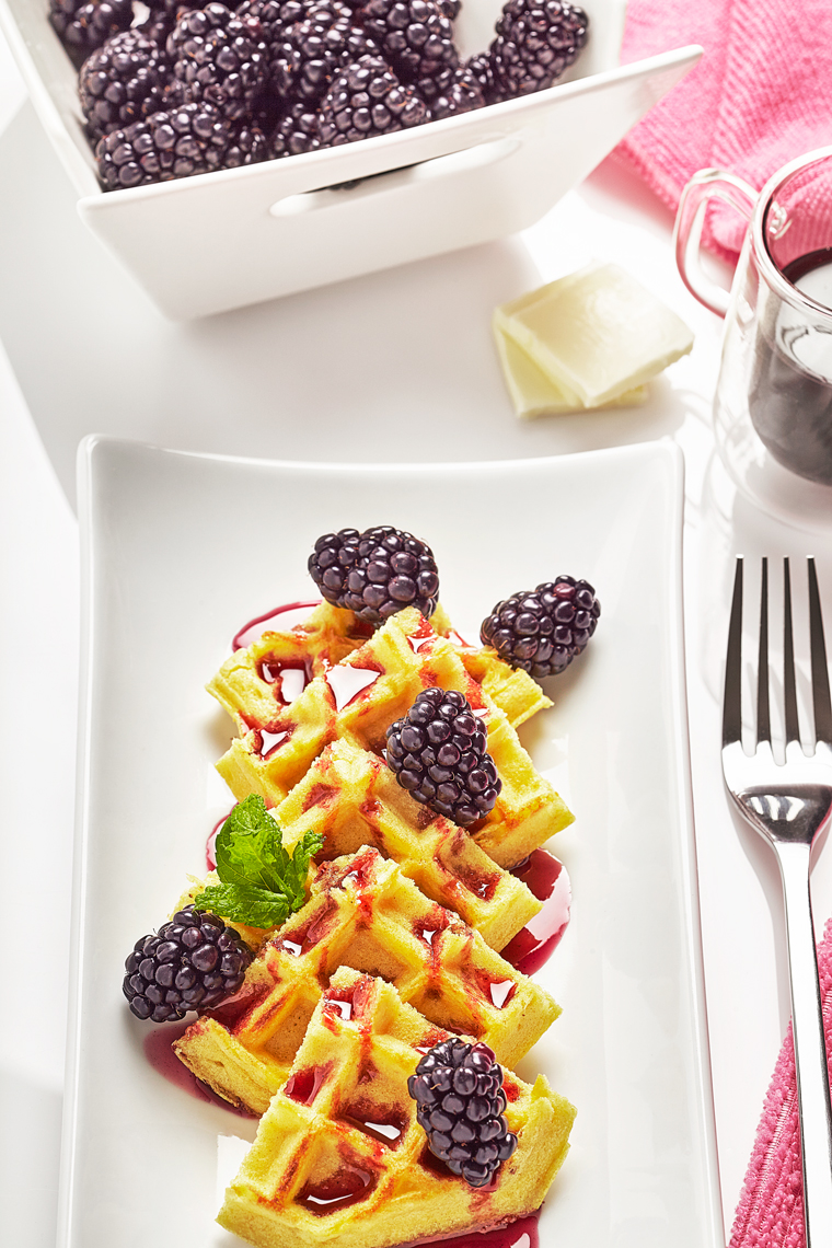 Waffles-Blackberries